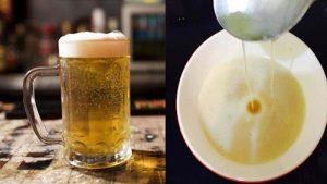 Bia giúp làm sạch và mền mịn da
