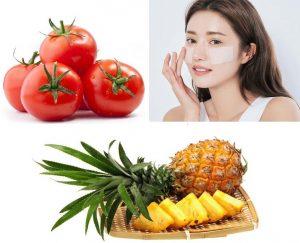 Làm toner tự nhiên từ nước ép cà chua và thơm