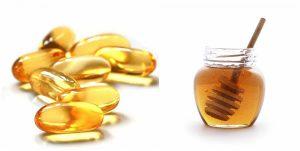 Tạo hỗn hợp làm đẹp từ vitamin E và mật ong