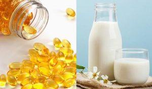 Tăng hiệu quả dưỡng bóng da với viên nén vitamin E và sữa tươi