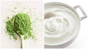 Giảm thâm hiệu quả với trà xanh và sữa chua