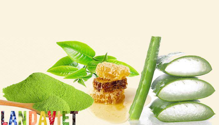 Tạo hợp chất mặt nạ dưỡng da từ nha đam, trà xanh và mật ong