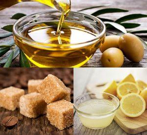 Tẩy tế bào chết bằng chanh và dầu oliu