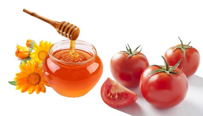 Công dụng làm đẹp da mặt của mật ong và cà chua