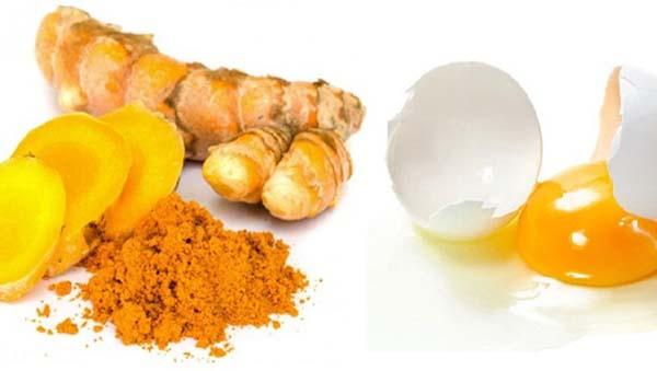 Làm đẹp da mặt đơn giản từ bột nghệ và trứng gà