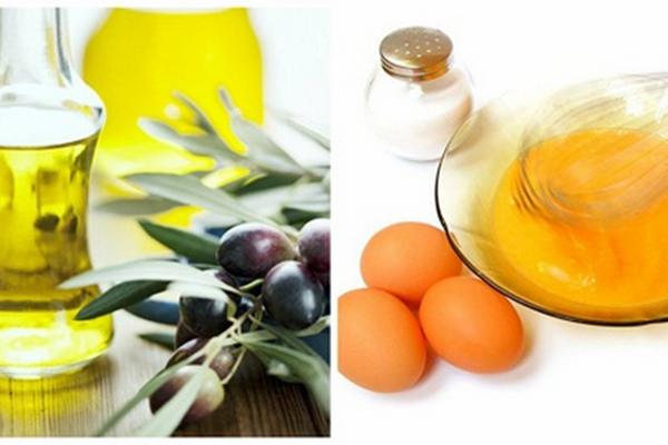 Làm đẹp da mặt bằng trứng gà với dầu oliu