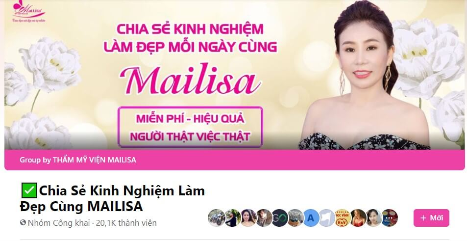 Nhóm chia sẻ kinh nghiệm làm đẹp của nhà Mailisa