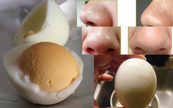 Se khít lỗ chân lông với trứng gà luộc
