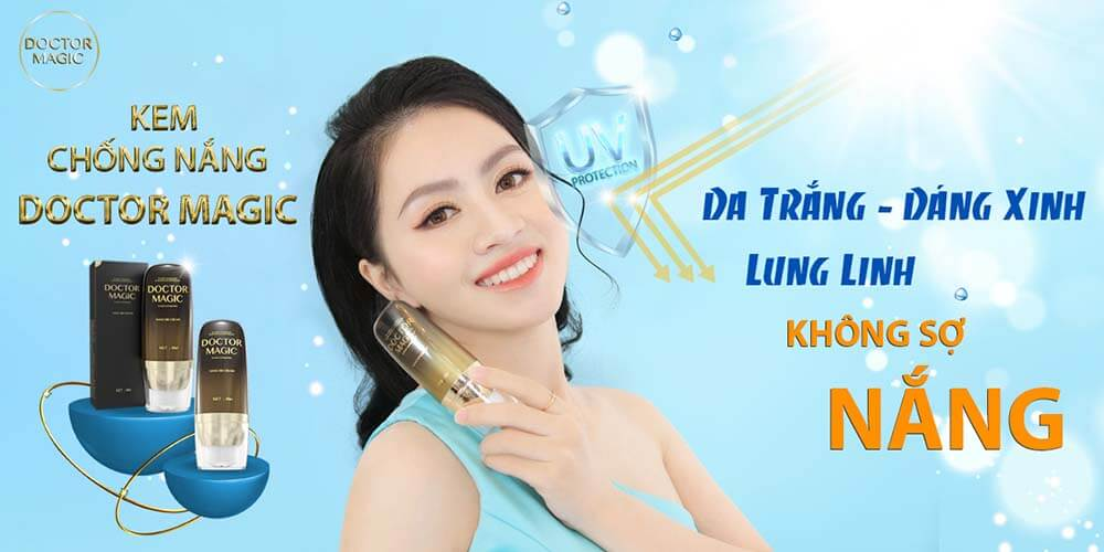 review kem chống nắng Doctor Magic
