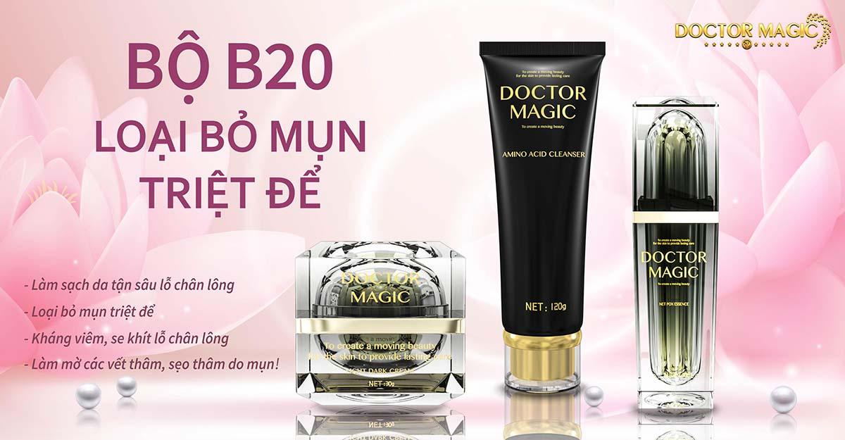 Bộ B20 Doctor Magic điều trị mụn
