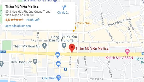 địa chỉ Mailisa ở Vinh