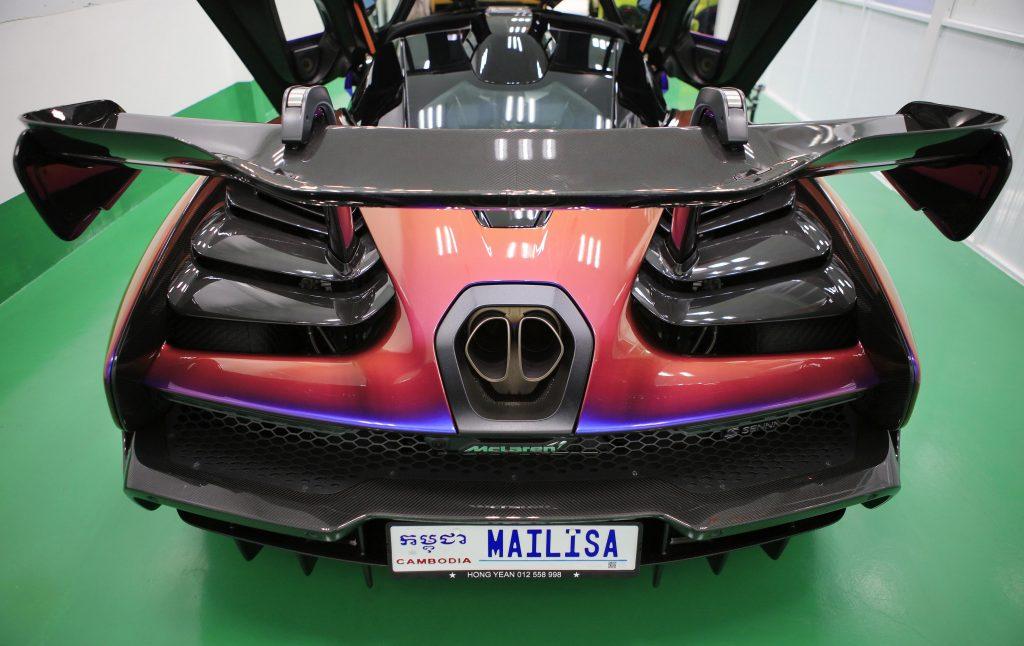 biển số siêu xe McLaren Senna mang tên Mailisa