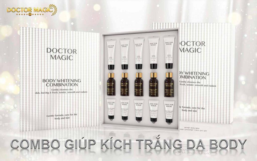 Review Bộ combo giúp kích trắng da body Doctor Magic