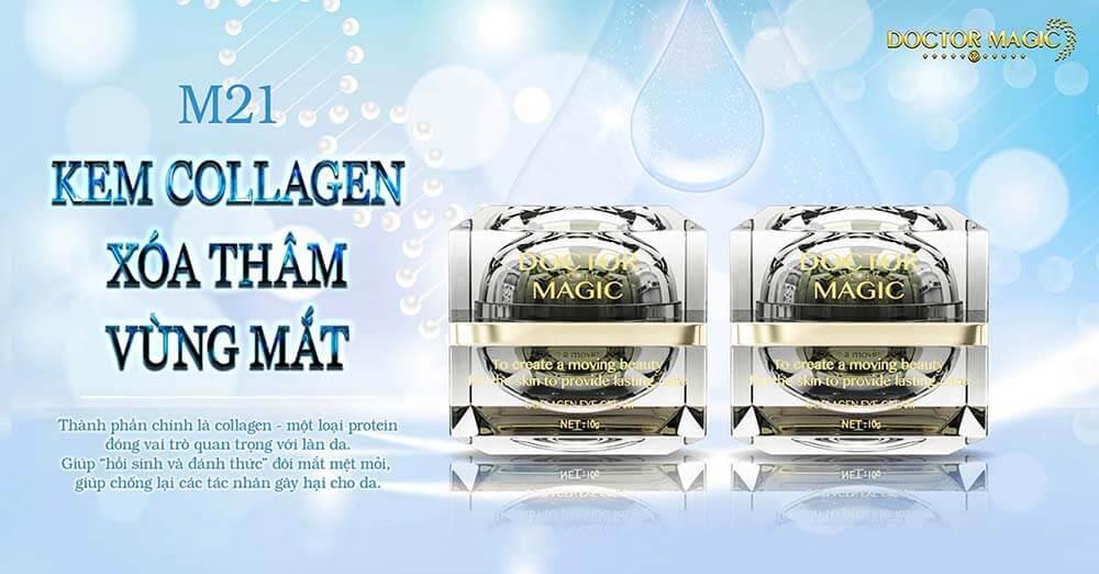 Review sản phẩm M21 kem collagen xóa thâm vùng mắt