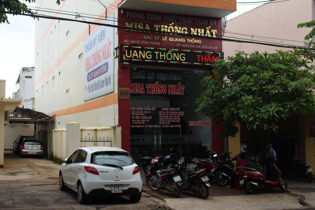 Thẩm mỹ viện Misa thống nhất ở bmt Dak Lak