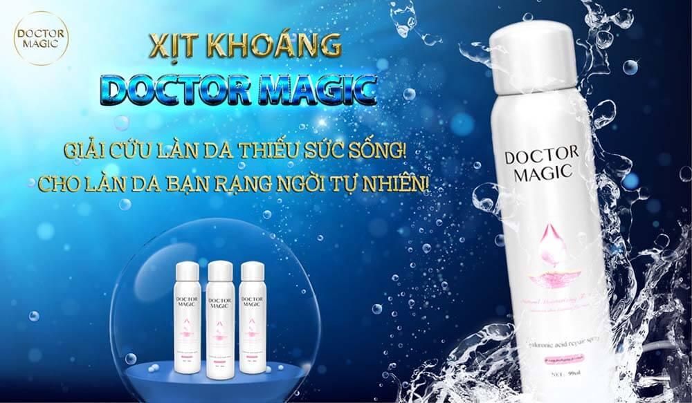review sản phẩm xịt khoáng Doctor Magic