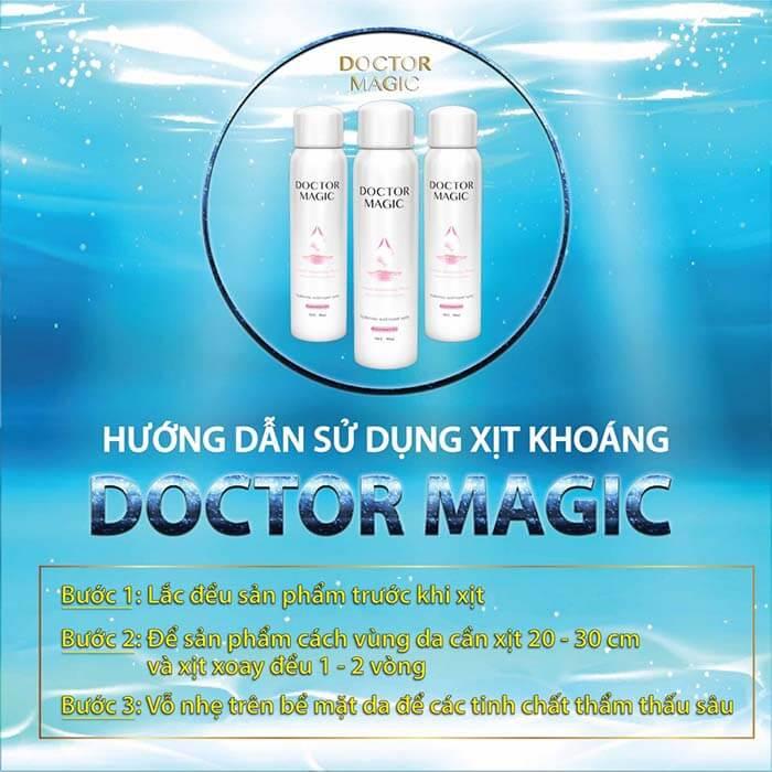 cách dùng nước xịt khoáng M31 Doctor Magic